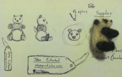 Mini panda pins