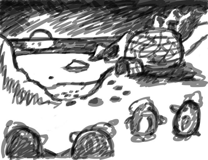 artic penguins scene 2